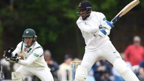 England's Chris Jordan followed his half-century with a three-wicket haul at Chester Road
