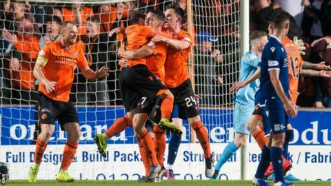 Dundee United were unbeaten in three derbies this season, beating Dundee twice