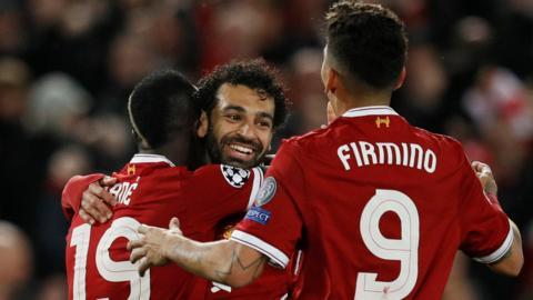 Mane, Salah and Firmino