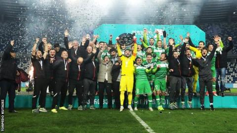 Torpedo Kutaisi celebrate winning Georgian title