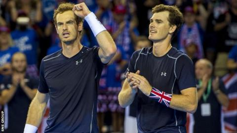 Andy and Jamie Murray have never lost a doubles match in the Davis Cup