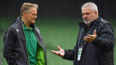 Ireland head coach Joe Schmidt and Wales counterpart Warren Gatland