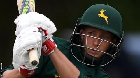 Nottinghamshire's Billy Root made his first List A century on only his fourth appearance