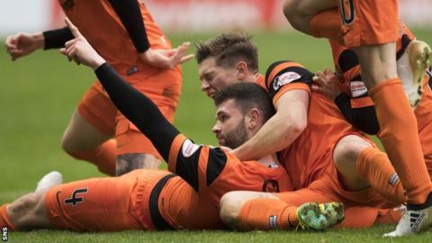 Mark Durnan celebrates for Dundee United
