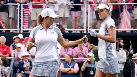 Lexi Thompson and Cristie Kerr
