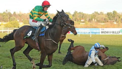 Edwulf wins the Irish Gold Cup