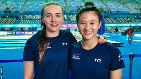 Lois Toulson (left) and Eden Cheng won gold in the women's 10m synchronised event at the European Championships in 2018