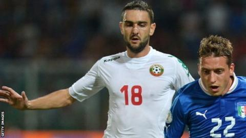 Bulgarian international midfielder Vladimir Gadzhev has scored once in 25 appearances for his country
