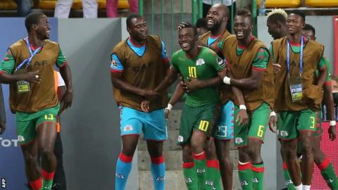 Burkina Faso celebrate