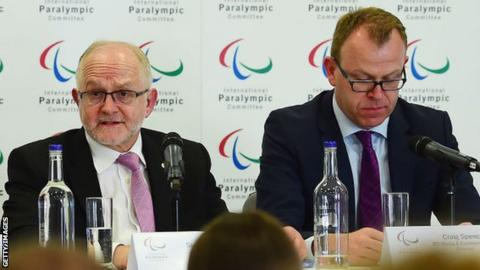 Former IPC president Sir Philip Craven and communications boss Craig Spence
