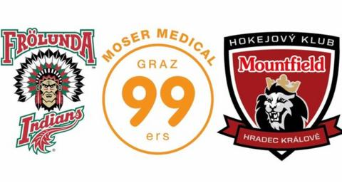 Frolunda Indians, Graz99ers and Mountfield HK