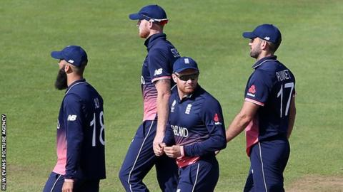 England players leave the field after semi-final defeat to Pakistan