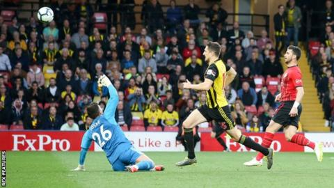 Shane Long scores the fastest ever Premier League goal in the Southampton versus Watford game
