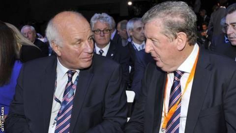 Greg Dyke (left) and Roy Hodgson