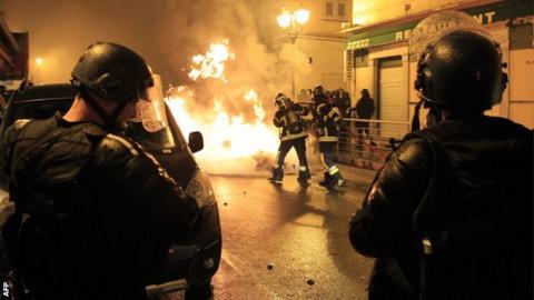 Bastia fans protest