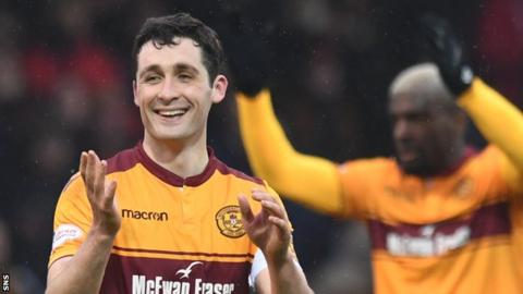 Carl McHugh after Motherwell's 2-1 win over Hearts in the Scottish Cup semi-final