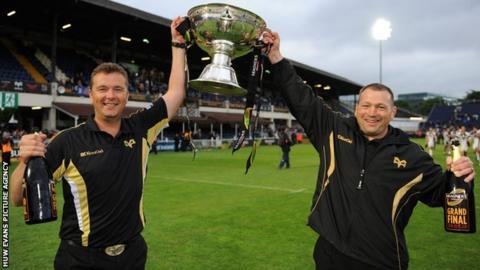 Sean Holley and assistant Jonathan Humphreys enjoyed trophy success at Ospreys