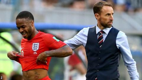 Gareth Southgate shows support for Raheem Sterling