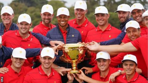 Presidents Cup: US dominate the singles to beat the International team 16-14