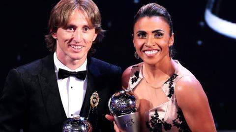 Luka Modric and Marta