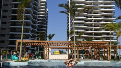 The swimming pool in the Athletes village at the 2016 Rio de Janeiro Games. The IOC want to save money on the service offered to athletes in future