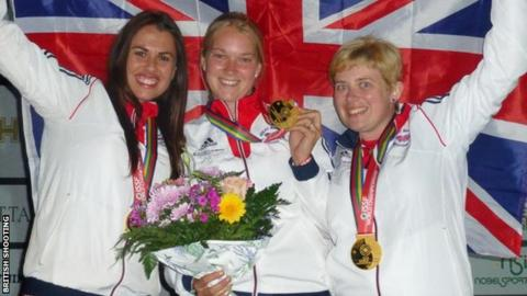 Charlotte Kerwood (left). Abbey Ling and Kirsty Barr (right)