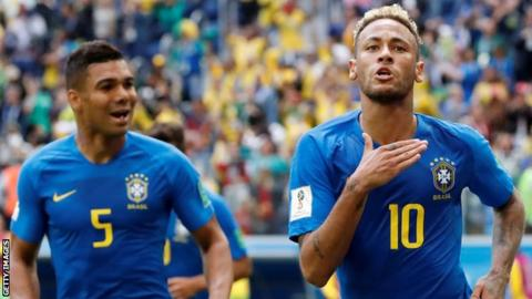 World Cup favourites Brazil beat Serbia to finish top of Group E