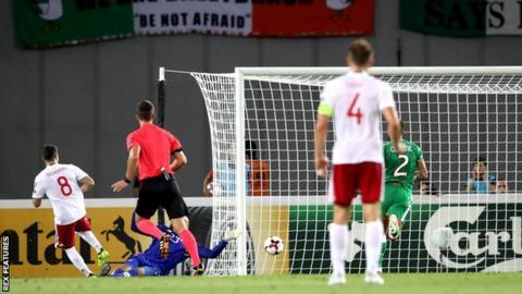 Valeri Qazaishvili scores for Georgia