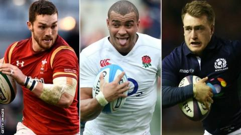Wales wing George North, England centre Jonathan Joseph and Scotland full-back Stuart Hogg