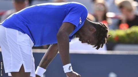 Gael Monfils at the Rogers Cup in Montreal