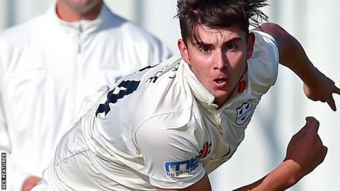 Worcestershire pace bowler Josh Tongue