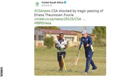 Former Women's World Cup cricketer Elriesa Theunissen-Fourie dies in double tragedy