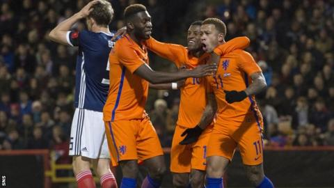 Netherlands striker Memphis Depay