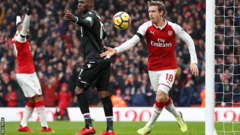 Arsenal 4 - 1 Crystal Palace Football Highlights 20/1/2018