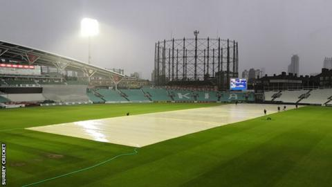 Covers on at The Oval