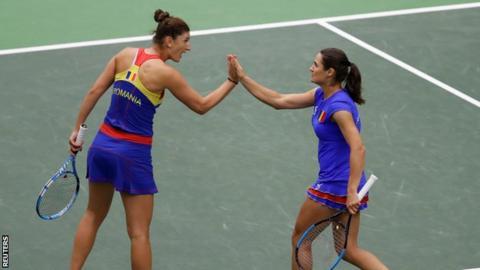 Romania's Irina-Camelia Begu and Monica Niculescu