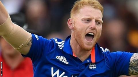 Ben Stokes in England ODI action