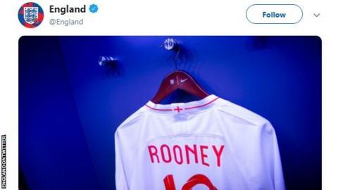 Wayne Rooney's England shirt
