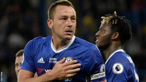 Chelsea skipper John Terry celebrates scoring the opener
