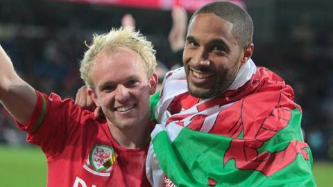 Jonny Williams and Ashley Williams
