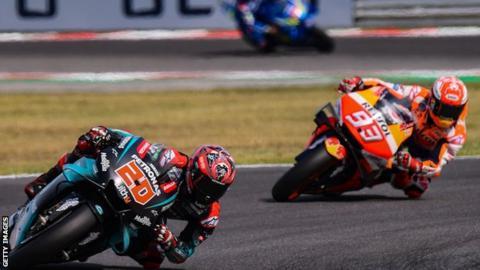 MotoGP: Honda's Marc Marquez wins in San Marino