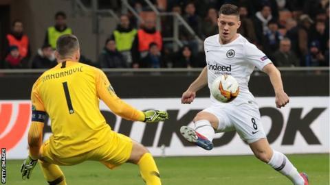 Luka Jovic of Eintracht Frankfurt