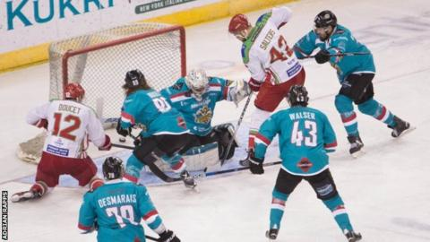 Cardiff Devils in action against Belfast Giants