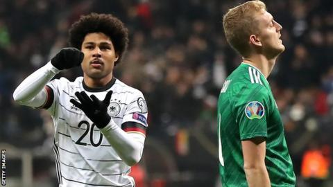 German World Cup Team 2020.Euro 2020 Qualifiers Serge Gnabry Hits A Hat Trick As