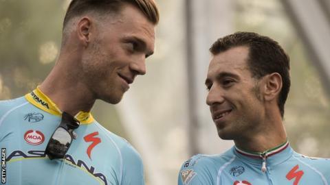 Lars Boom (left) and Vincenzo Nibali