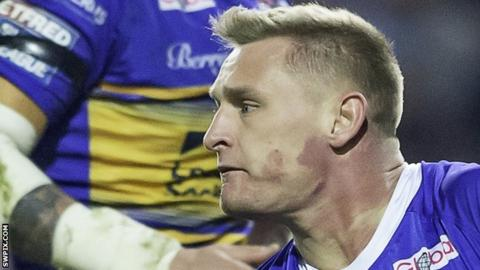 Brad Dwyer's drop-goal helped Leeds Rhinos to just their second Super League win of the season