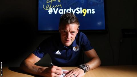 England global Jamie Vardy has signed a new deal with Leicester City