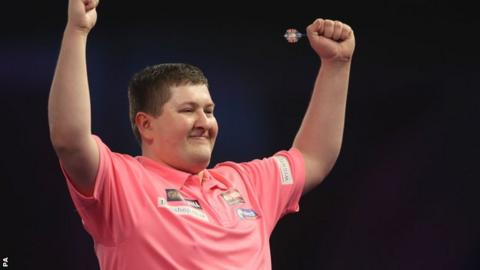 James Wade crashes out as Keegan Brown steals show