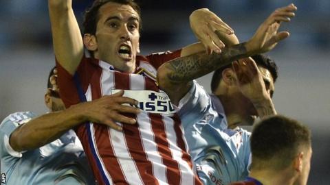 Atletico Madrid defender Diego Godin