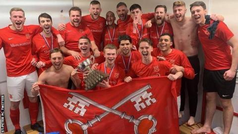 St Peter FC celebrate